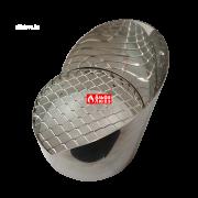 Решетка защитная из нержавеющей стали с козырьком для дымоудаления 10065 C