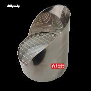 Решетка защитная из нержавеющей стали с козырьком для дымоудаления 10065 C (вид сбоку)