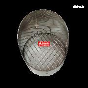 Решетка защитная из нержавеющей стали с козырьком для дымоудаления 10065 C (вид сверху)