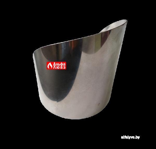 Решетка защитная из нержавеющей стали с козырьком для дымоудаления 10065 C (вид сзади)