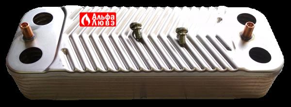 Теплообменник ГВС Junkers-Bosch 18037-8-705-406-389 (вид сбоку)