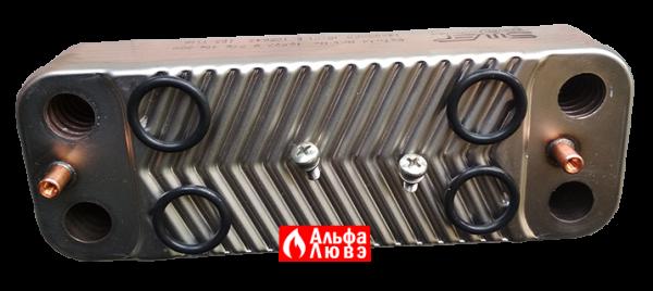 Теплообменник ГВС Junkers-Bosch 18037-8-705-406-389 (вид сверху)