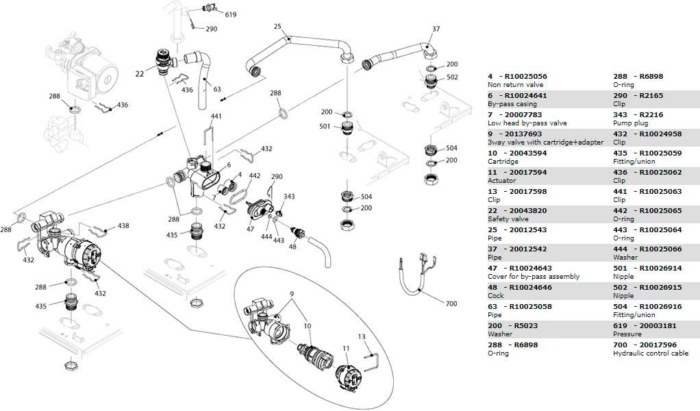 Гидравлическая часть котла Beretta City 24 RSI 20024740