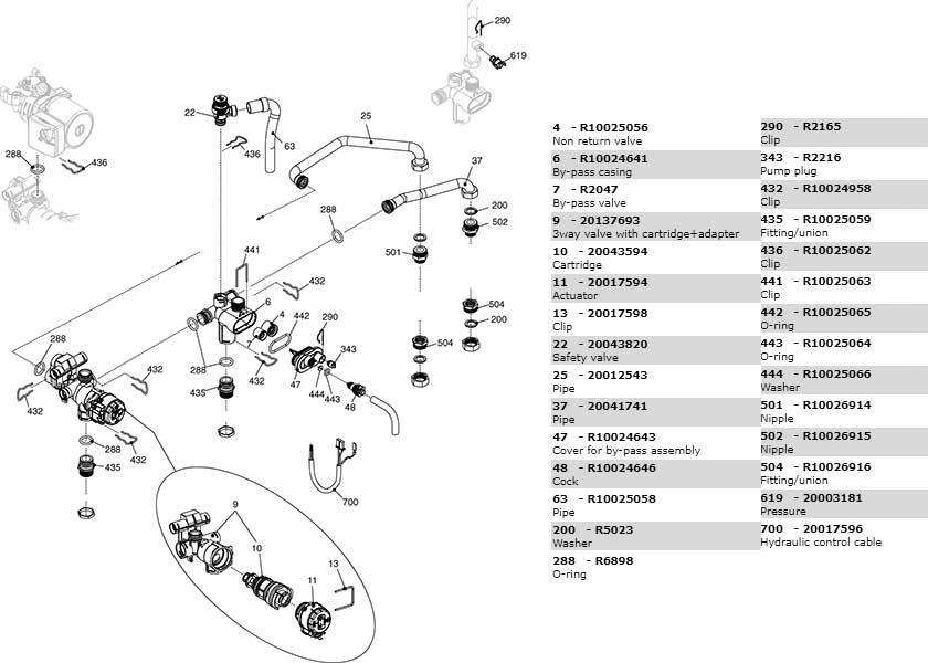 Гидравлическая часть котла Beretta City 24 RSI 20049695