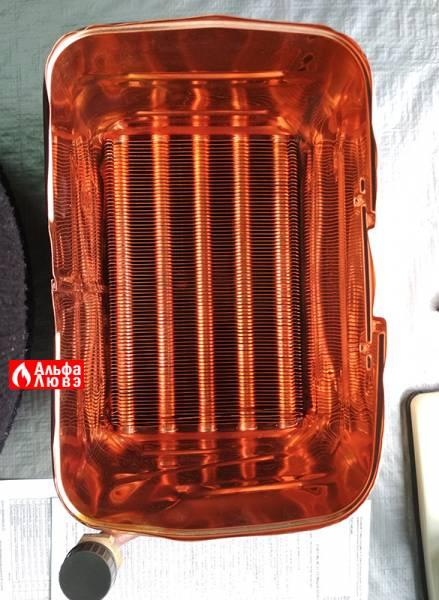 Теплообменник 8223-08-000 на котел Нева 8224 и 8624 (вид сверху)