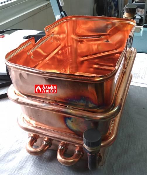 Теплообменник 8223-08-000 на котел Нева 8224 и 8624 (вид сзади)