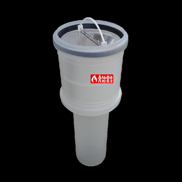 Адаптер с обратным клапаном для конденсационной каскадной системы дымоудаления 110-80