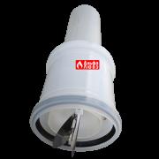 Адаптер с обратным клапаном для конденсационной каскадной системы дымоудаления 110-80 (вид сбоку с открытыми лепестками)