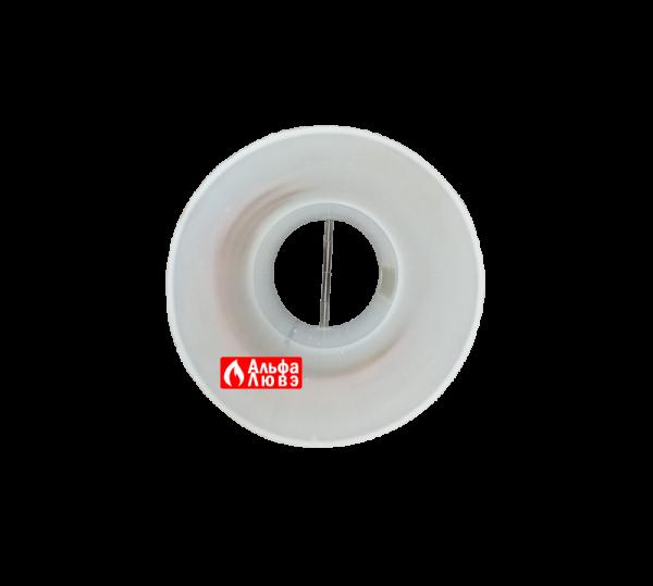 Адаптер с обратным клапаном для конденсационной каскадной системы дымоудаления 110-80 (вид снизу)