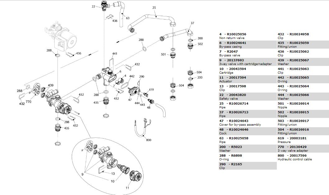 Гидравлическая часть котла Beretta City 28 RSI 20087850