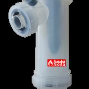 Конденсатоотводчик вертикальный для газового конденсационного котла отопления (вид спереди)