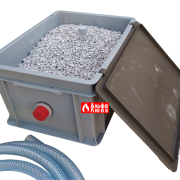 Нейтрализатор конденсата N2 Beretta-Riello 4031810 (сбоку в открытом виде)