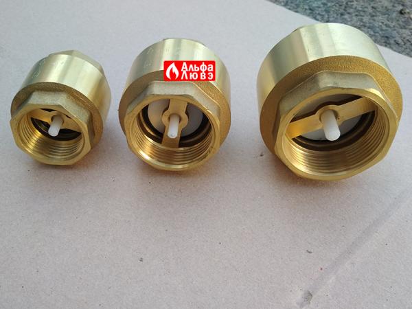 Обратный клапан Slovarm DN 15, 20,25,30, 32, 40, 50 (вид снизу)