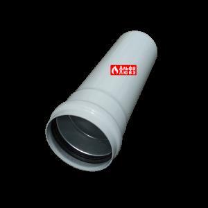 Удлинение алюминиевое Ø 80 мама-папа (M-F) раздельного дымоудаления 25 см