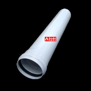 Удлинение алюминиевое Ø 80 мама-папа (M-F) раздельного дымоудаления 50 см