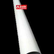 Удлинение алюминиевое Ø 80 мама-папа (M-F) раздельного дымоудаления (вид сзади)