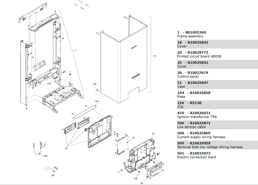 Электрическая часть котла Beretta Exclusive 24 CAI 1150683