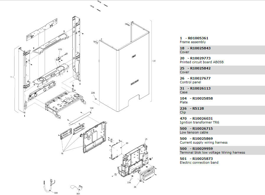 Электрическая часть котла Beretta Exclusive 28 RAI 1150703