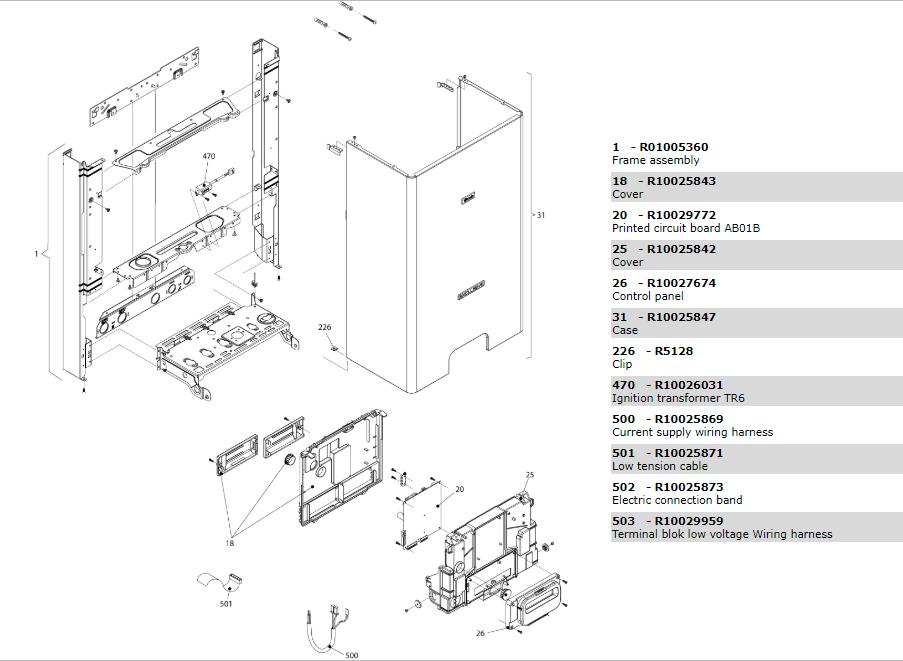 Электрическая часть котла Beretta Exclusive Mix 26 CSI 1150343