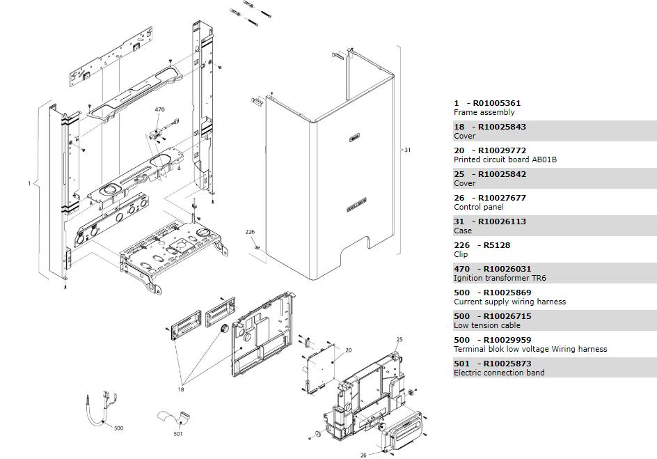 Электрическая часть котла Beretta Exclusive Mix 30 RSI 1150353