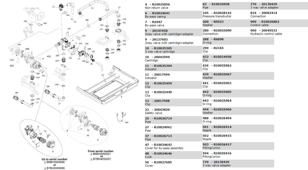 Гидравлическая часть котла Beretta Exclusive 28 RAI 1150703