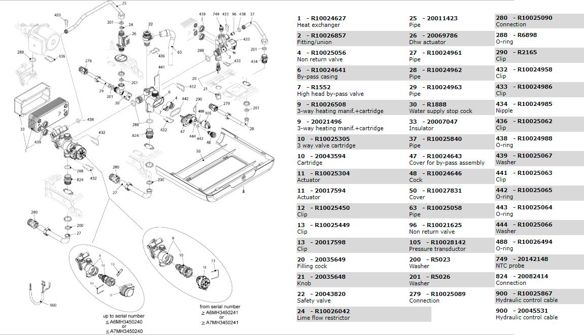 Гидравлическая часть котла Beretta Exclusive Mix 35 CSI 1150383