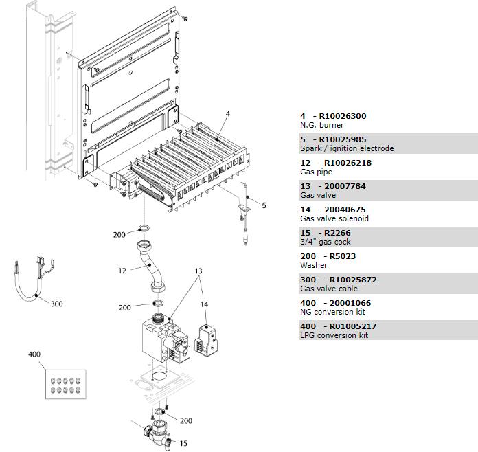 Горелочная часть котла Beretta Exclusive 28 RAI 1150703