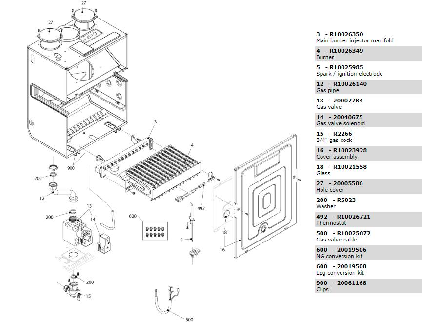 Горелочная часть котла Beretta Exclusive Mix 30 RSI 1150353