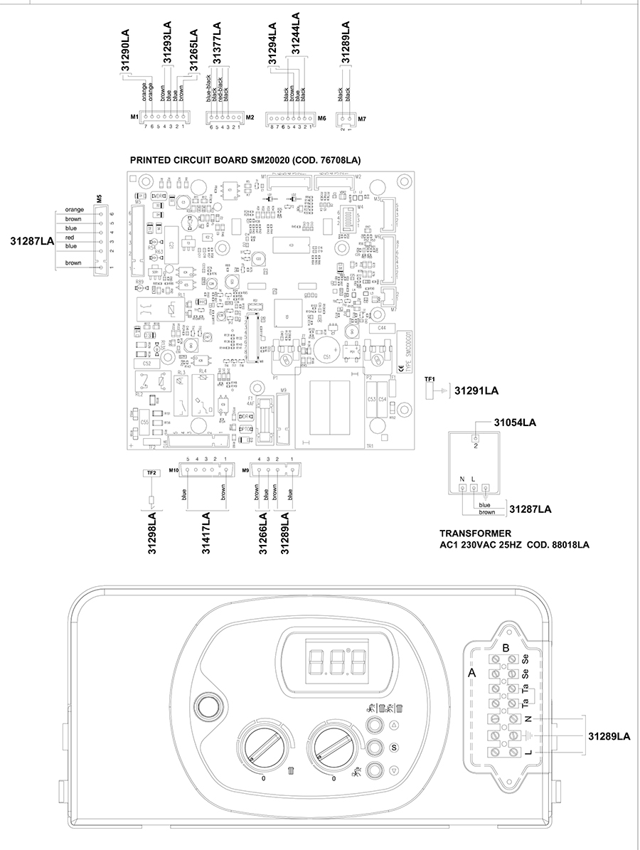 Электрическая схема двухконтурного котла Альфа-Калор АОГВ 24 ЗП 2011 гв