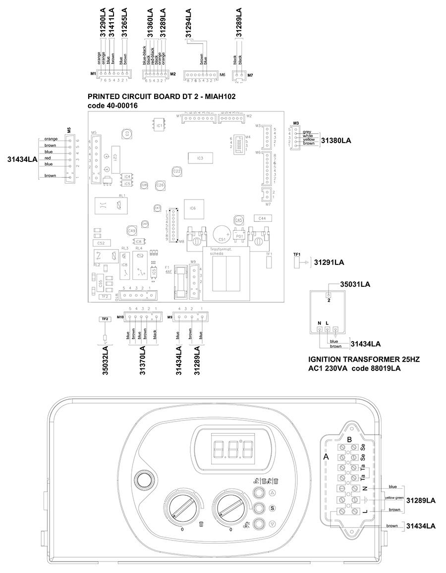 Электрическая схема котла Альфа-Калор АОГВ 50 ЗП 2010 гв