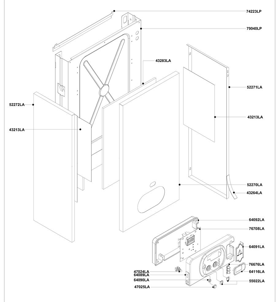 Элементы корпуса двухконтурного котла Альфа-Калор АОГВ 24 ЗП 2011 гв