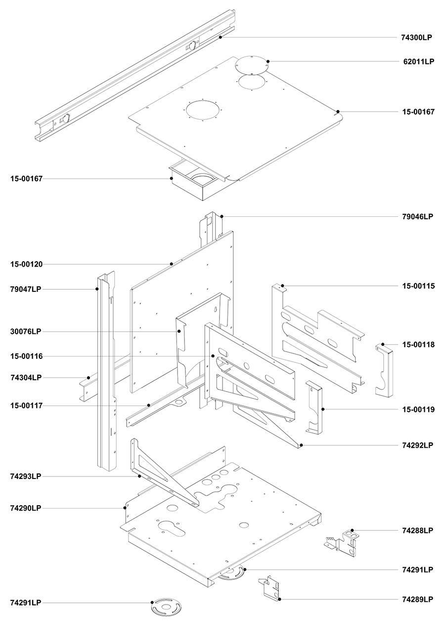 Элементы корпуса и креплений котла Альфа-Калор АОГВ 50 ЗП 2010 гв
