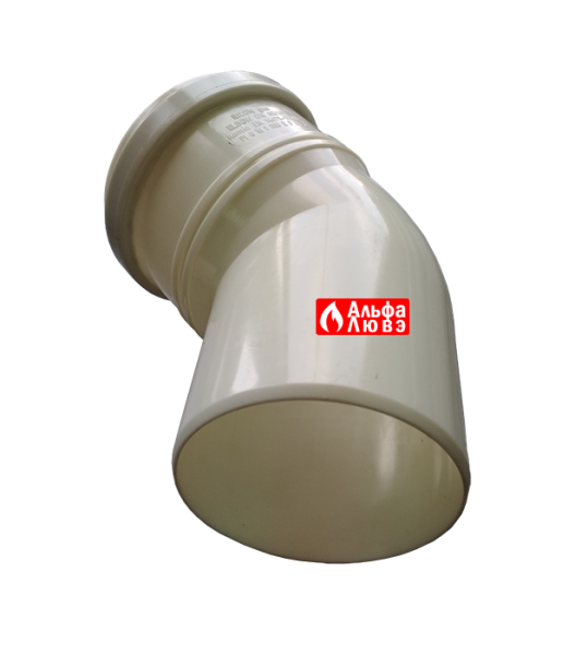 Поворот 45° конденсационный диаметр 80 мм (вид снизу)