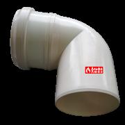 Поворот 90° конденсационный 80 мм (вид сверху)