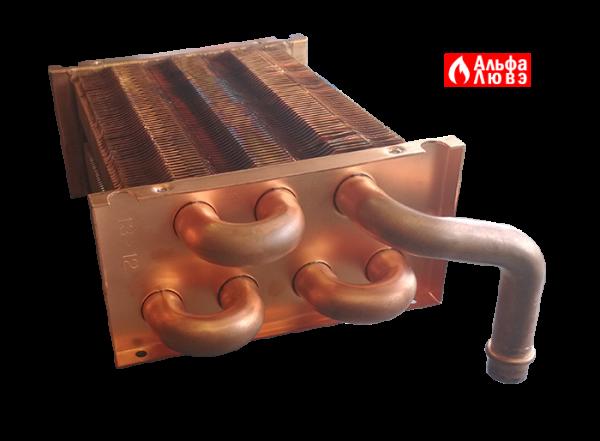 Теплообменник на котел MasterGas Seoul 11 14 16 21 кВт Артикул 2070549 (вид подключения)
