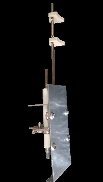 Электрод розжига и ионизации с креплением Beretta 20048151 (вид сбоку)