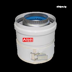 Адаптер для коаксиального дымоудаления Ø60-100 с комплектом уплотнительных колец на котел Ariston, Chaffoteaux, Vaillant