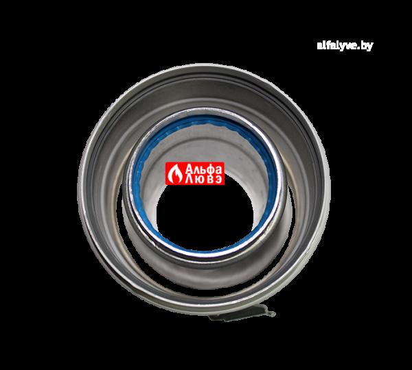 Адаптер для коаксиального дымоудаления Ø60-100 с комплектом уплотнительных колец на котел Ariston, Chaffoteaux, Vaillant (вид сверху)