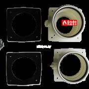 Адаптер двухблочный для раздельного дымоудаления PABSD 03 D80 с гайками и уплотнителями (сверху)