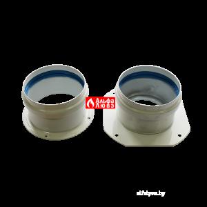 Адаптер двухблочный для раздельного дымоудаления S080803B с комплектом уплотнительных колец и винтов для котла Immergas