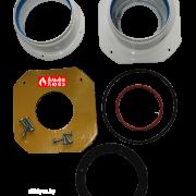 Адаптер двухблочный для раздельного дымоудаления S080803B с комплектом уплотнительных колец и винтов вид сверху