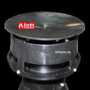 Коаксиальная дымотрубная шляпка от ультрафиолета на улицу (колпак) пластик PP80-125DDBS