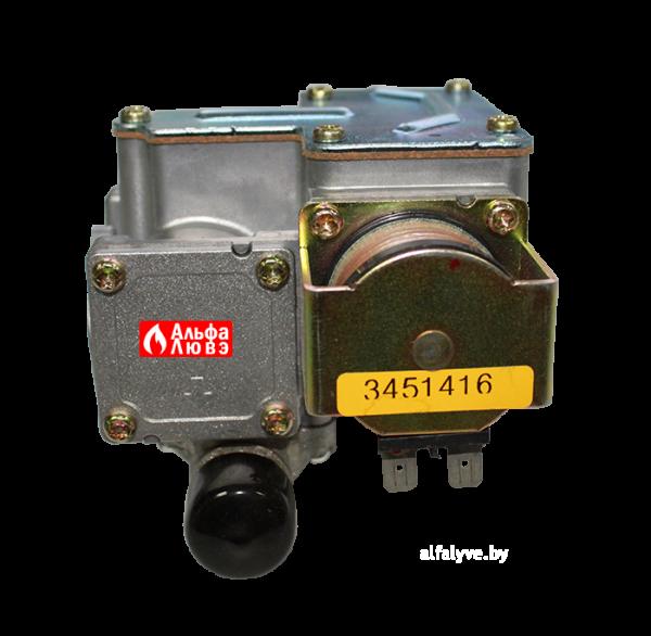 Газовый клапан 2030280 на котел Master Gas Seoul 11, 14, 16, 21, 24, 30, 35 (вид снизу)