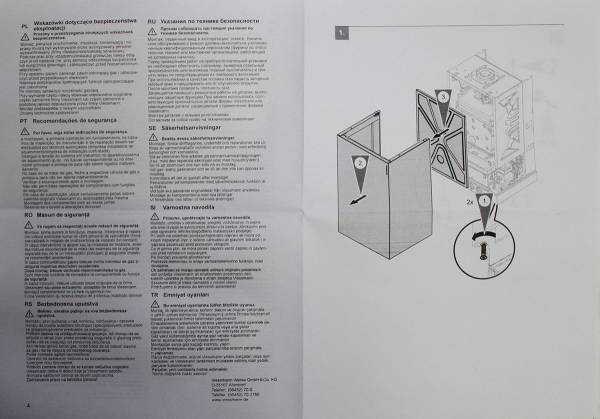 Инструкция по подключению прессостата (реле давления дыма) Viessmann 7817494 (лист 1)