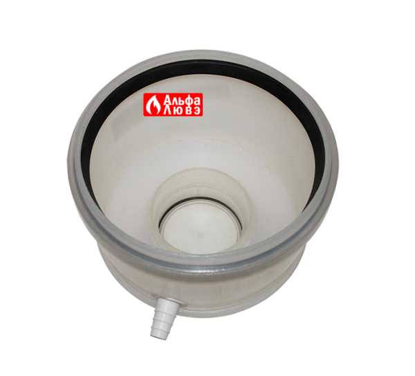 Крышка ревизионная со стоком для слива конденсата Ø160 артикул — 41160 (вид сверху)