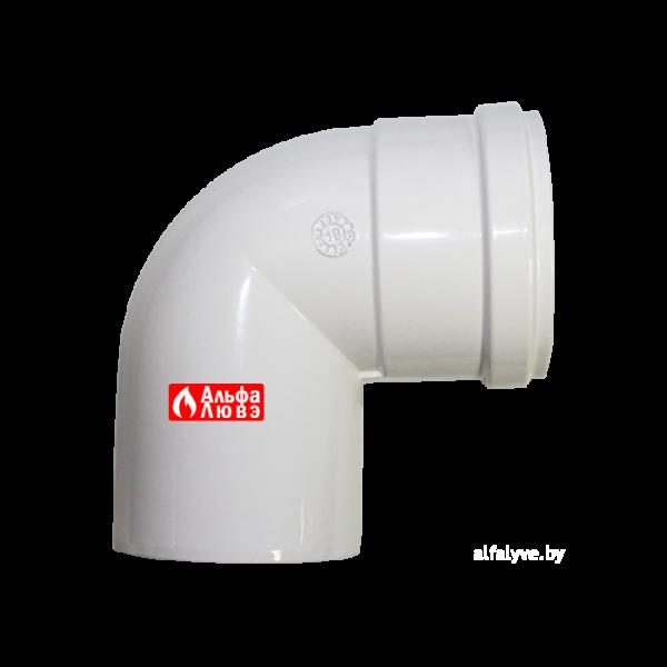 Отвод (колено, поворот) 90° M-F алюминиевый для системы дыпоудаления традиционного котла