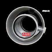 Удлинитель адаптер ALCMS 02 D60-100 коаксиальный 60-100 алюминиевый с отверстиями для замера CO (вид спереди)