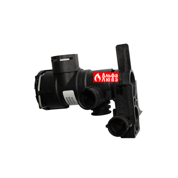 Трехходовой клапан в сборе Beretta 10026508 на котел Beretta Exclusive Mix 26, 30, 35, City 24, City 25 Green