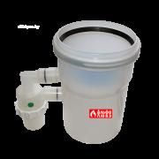 Obratnij klapan s sifonom Ø110-110 dlia sistemi dimoydalenija kondensacionnih kotlov ystanovlennih v kaskad