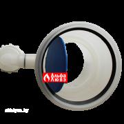 Obratnij klapan s sifonom Ø110-110 dlia sistemi dimoydalenija kondensacionnih kotlov ystanovlennih v kaskad (vid sverhy — polozhenie otkrit)